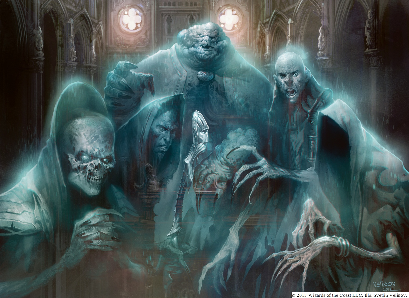 Ghost Council    Magic MTG VO NM Conseil Fantôme Obzedat Obzedat