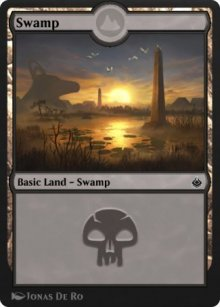Swamp 1 - Amonkhet Remastered