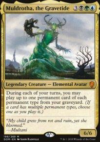 EDH - Muldrotha value/combo tide ( angry druid / flash hulk