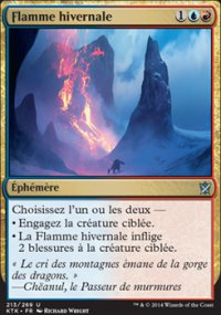Flamme hivernale -