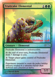 Fruitcake Elemental -