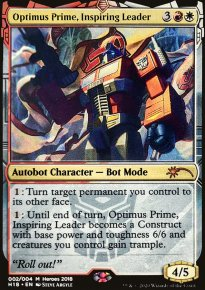Optimus Prime, Inspiring Leader -
